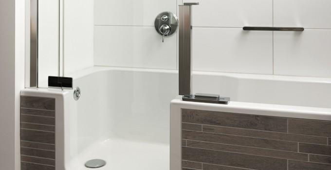 Badkamer douchen in bad u devolonter