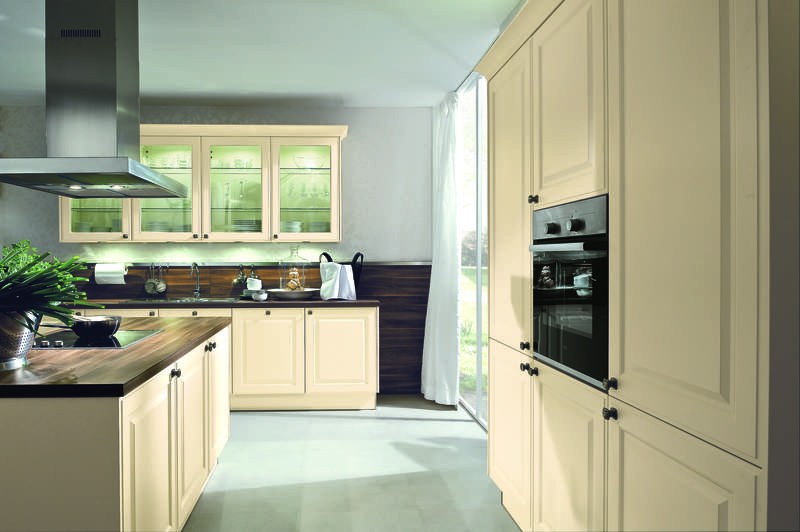 Glazen Achterwand Keuken Zaandam : Häcker Classic Art Breda Magnolia mat Grando Keukens