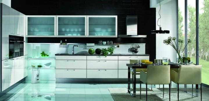 Glazen Achterwand Keuken Zaandam : Häcker Classic Art Diva Wit glanzend Grando Keukens